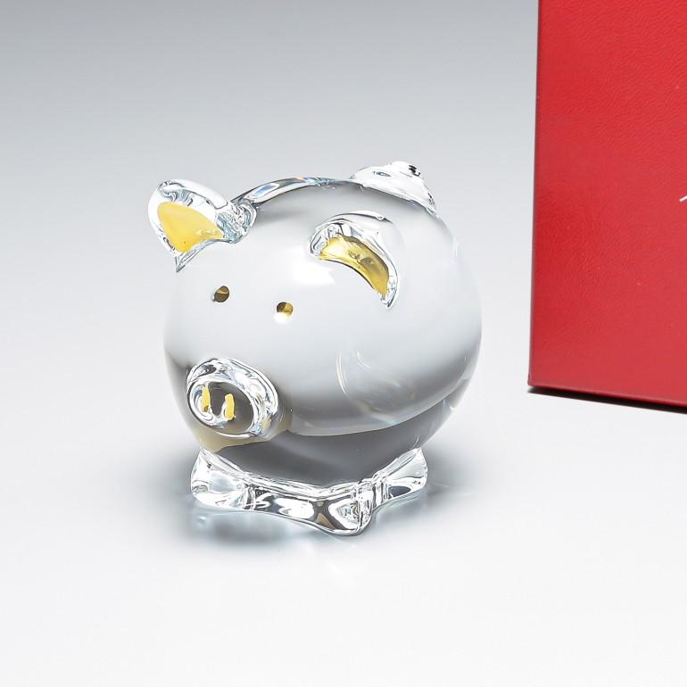 バカラ クリスタルフィギュア ゾディアック ZODIAQUE コション ロージー ピッグ 豚 置物 オブジェ 2812391
