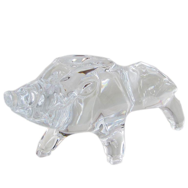 バカラ クリスタルフィギュア ゾディアック ZODIAQUE 干支 十二支 亥 猪 イノシシ 置物 オブジェ 2812399