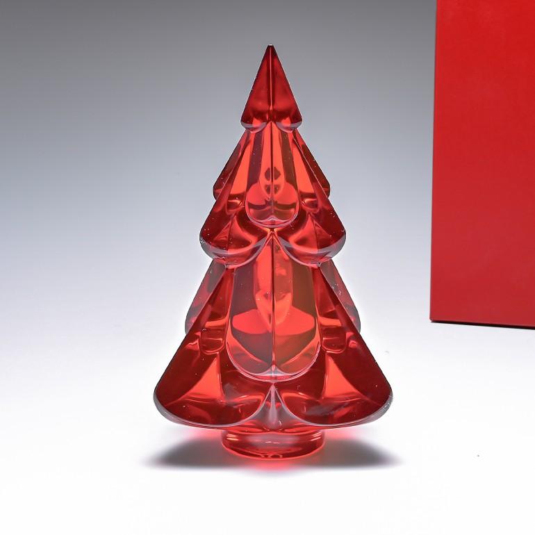 バカラ クリスタルフィギュア ノエル NOEL スノーウィーツリー クリスマスツリー レッド 置物 オブジェ 2812411