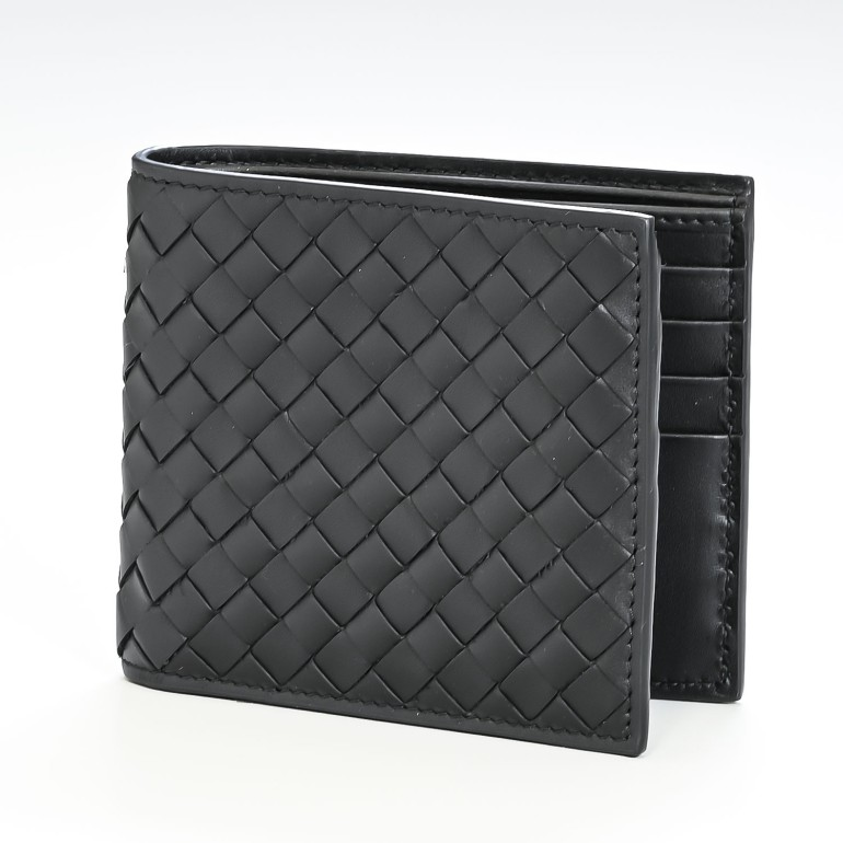ボッテガ 財布 ボッテガヴェネタ 財布 BOTTEGA VENETA メンズ二つ折財布 ブラック 113993 V4651 1000 母の日