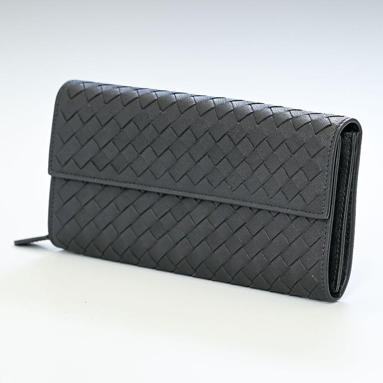 BOTTEGA VENETA ボッテガヴェネタ 長財布 ファスナー付き ブラック 150509 VX051 1000