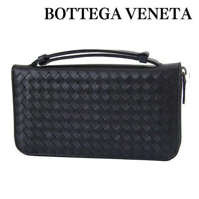 ボッテガ 財布 ボッテガ・ヴェネタ 財布 BOTTEGA VENETA トラベルケース ラウンドファスナー ブラック 169730 V4651 1000