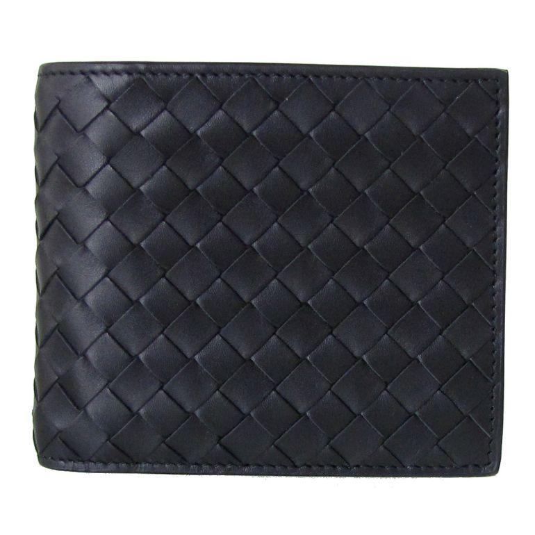 ボッテガヴェネタ 二つ折り財布 メンズ イントレチャート ウォレット ネロ ブラック 415892 V4651 1000 母の日