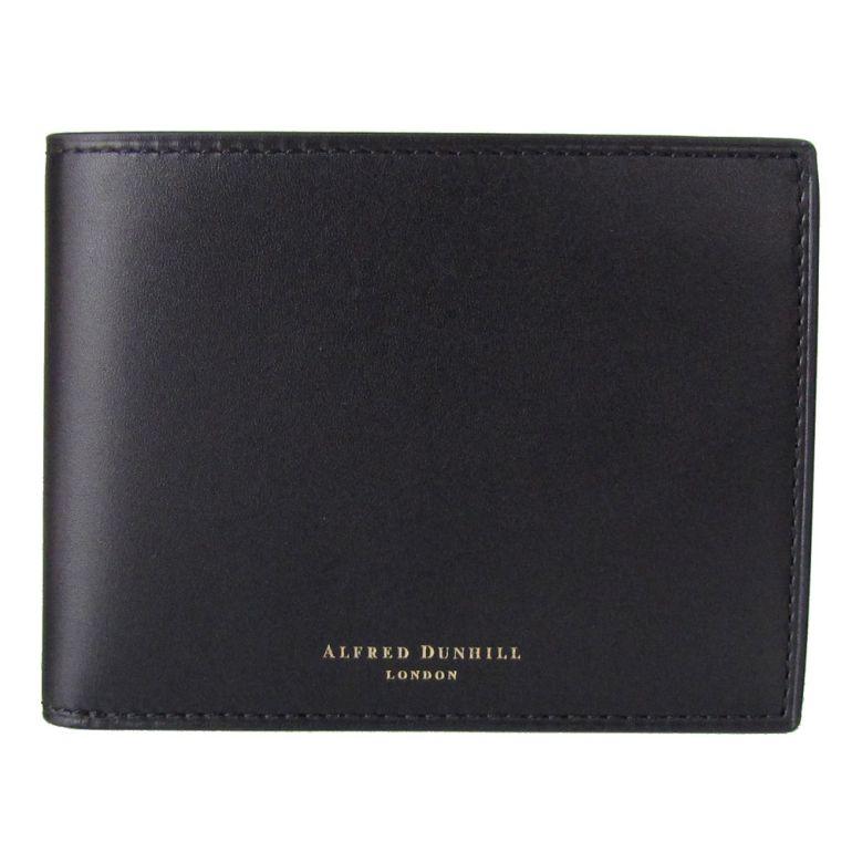 ダンヒル 二つ折り財布 メンズ DUKE デューク 箔押しロゴ ブラック 18F2320DK001