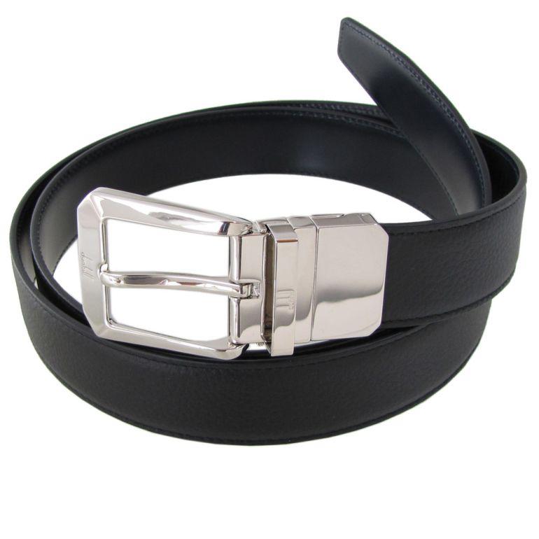 ダンヒル ベルト メンズ 幅3cm リバーシブル 回転式バックル ストリンガシステム対応 ブラック ネイビー 18F4T10GR001 (HPB125A)
