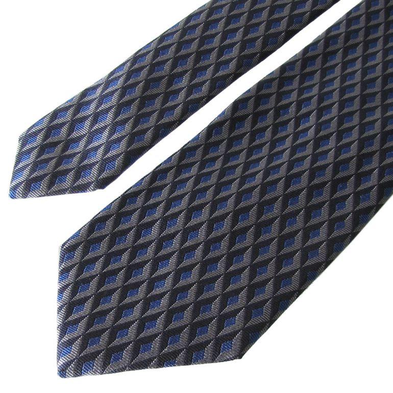 ダンヒル ネクタイ メンズ ブルー 大剣幅8cm シルク100% 18FPTW1ZG402 MADE IN ITALY