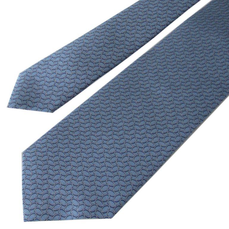 ダンヒル ネクタイ メンズ ブルー 大剣幅8cm シルク100% 19RPTP1SN420 MADE IN ITALY