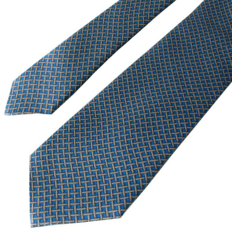ダンヒル ネクタイ メンズ ブルー 大剣幅8cm シルク100% 19RPTP1TH430 MADE IN ITALY