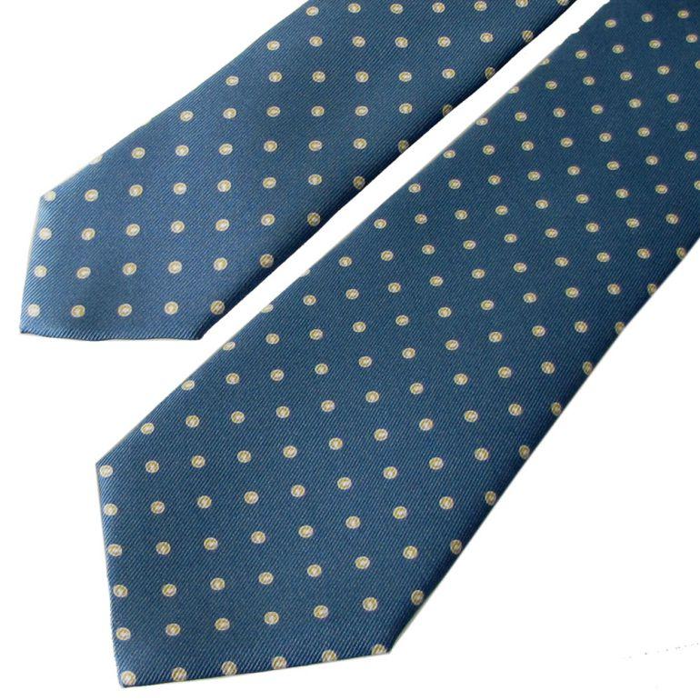 ダンヒル ネクタイ メンズ ブルー 大剣幅8cm シルク100% 19RPTP4SA420 MADE IN ITALY