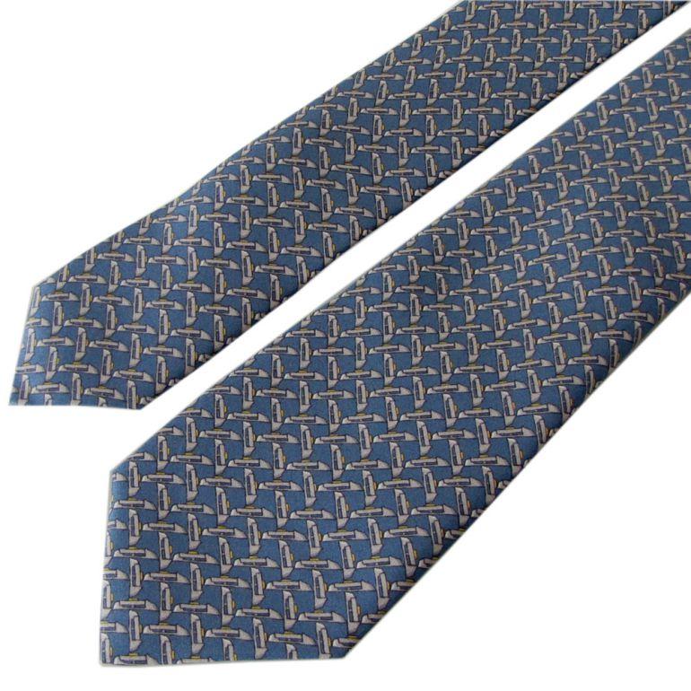 ダンヒル ネクタイ メンズ ブルー 大剣幅7cm シルク100% 19RPTP4SJ021 MADE IN ITALY
