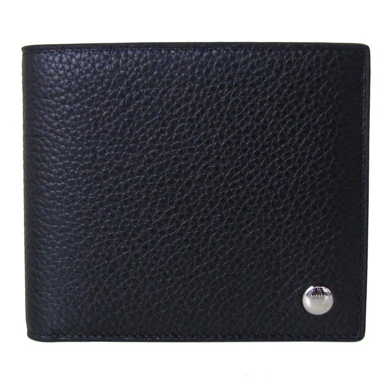 ダンヒル dunhill 財布 二つ折り財布 小銭入れなし メンズ ボストン BOSTON グレインレザー ブラック L2V330A