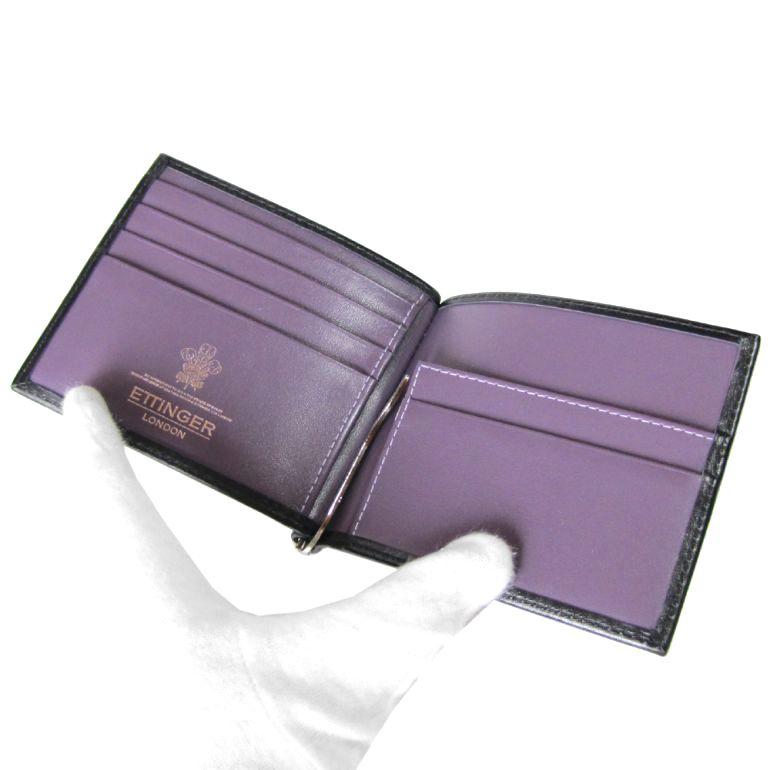 Ettinger ETTINGER wallet men billfold money clip men's royal collection PP787AJR BLACK black