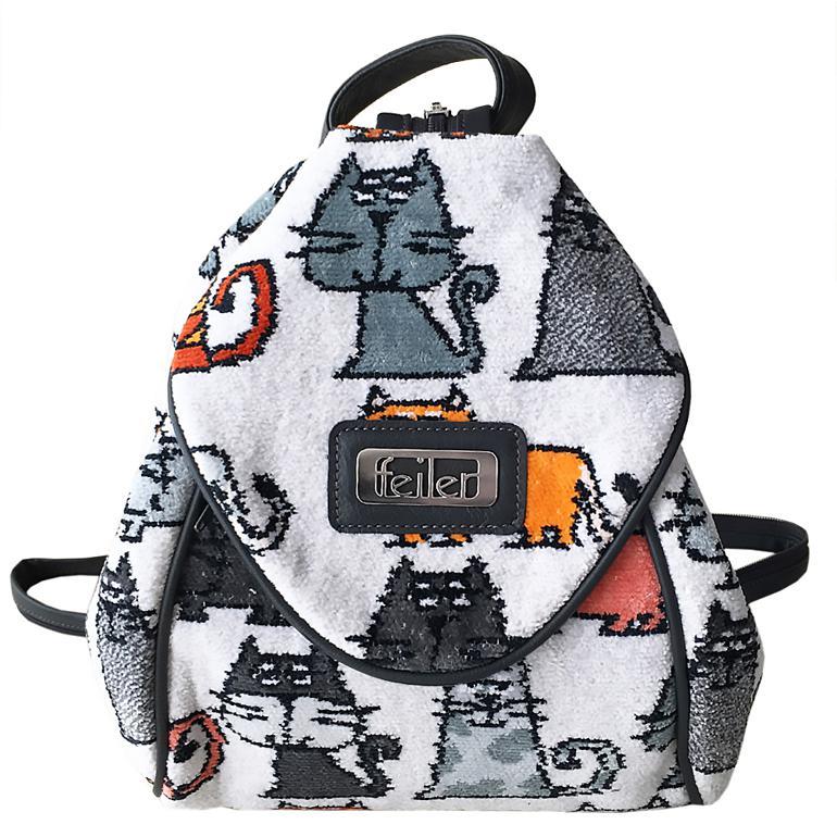 フェイラー FEILER バッグ リュック ショルダーバッグ キャッツ CATS TA66 猫 ネコ グレー