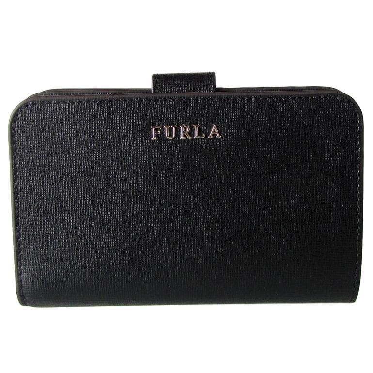 フルラ FURLA バビロン ジップアラウンドM 2つ折り財布 コンパクトウォレット 872836 ONYX ブラック PR85 B30 O60