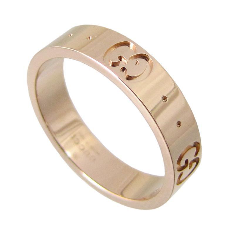 新品 グッチ アイコン リング GUCCI 指輪 アイコンリング ピンクゴールド K18 152045 J8500 5702
