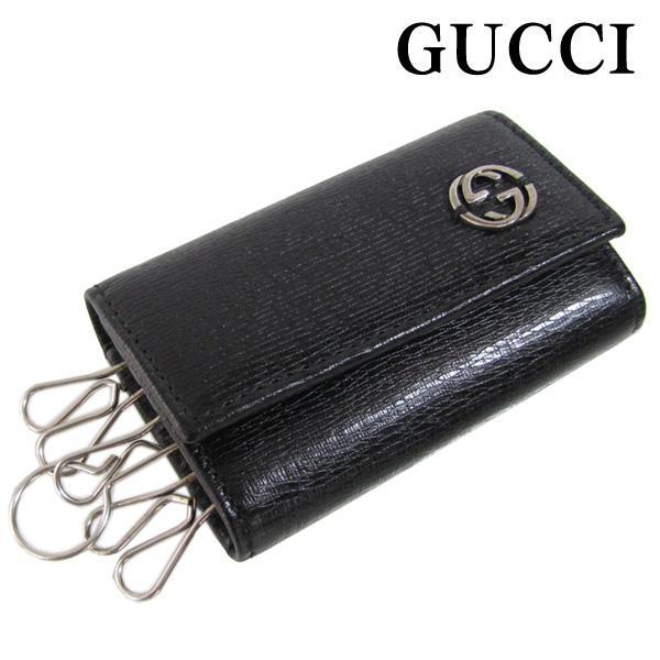 Gucci By Gucci Key Case 6 Key Holder Black Gg Logo Chelsea 256337 Aru0n1000
