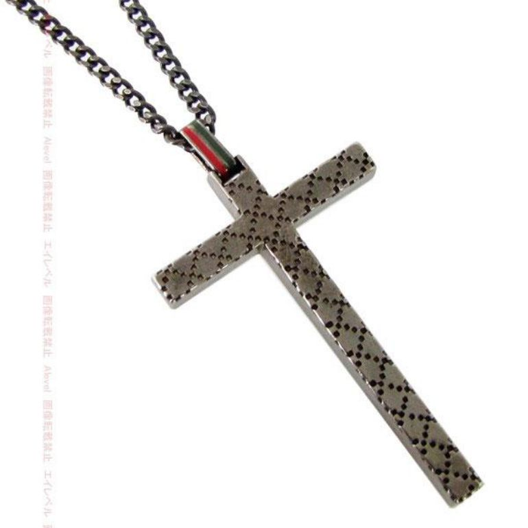 3a7021d04 Gucci pendant necklace cross pendant necklace Diamante motif 310484 J89L0  8518 ...