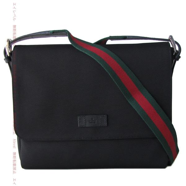 Gucci bags GUCCI Messenger Bag Black techno canvas shoulder bag シグネイチャーウェブ 337074 KWT5N1060
