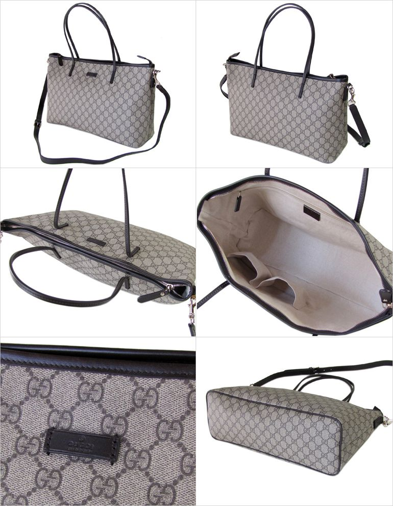 95c76e7b22e5 alevel: Gucci by GUCCI tote bag 2-way GG Supreme canvas dark brown ...