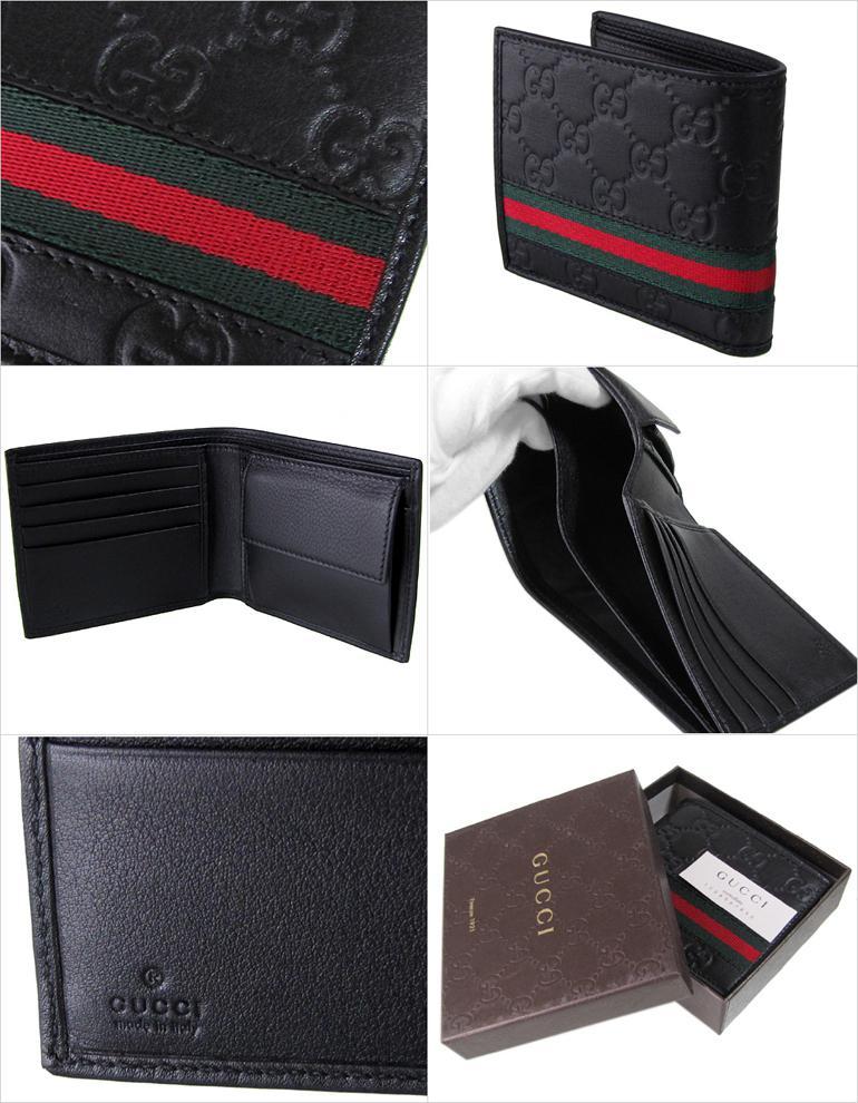 9416dfe16fb グッチ GUCCI 財布 二つ折り メンズ シグネチャーウェブ グッチシマ ブラック 365493 A0VBR 1060  楽ギフ