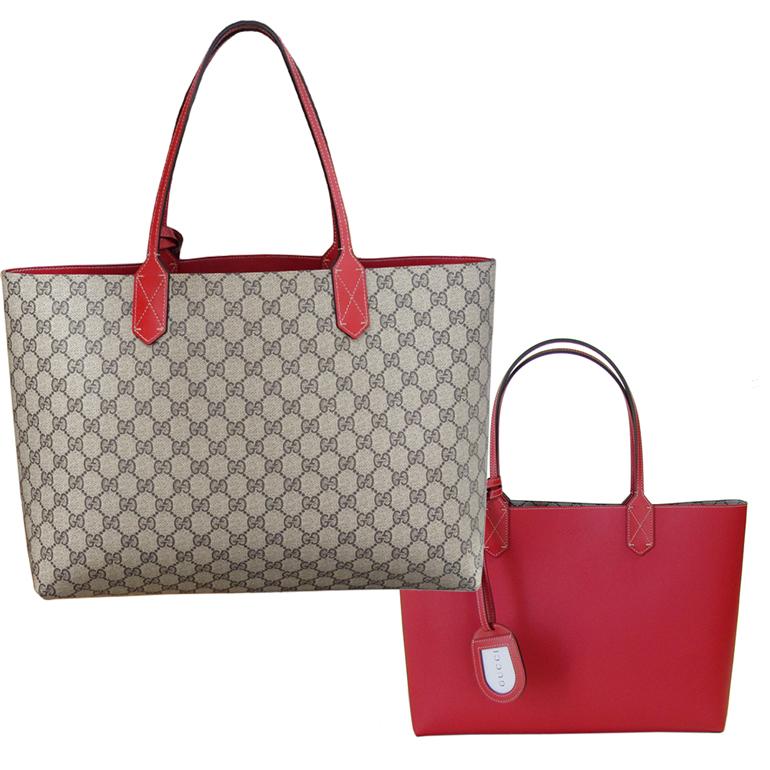 2f4bf488f72 alevel  Gucci bag GUCCI reversible GG leather medium Tote red 368568 A9810  8411