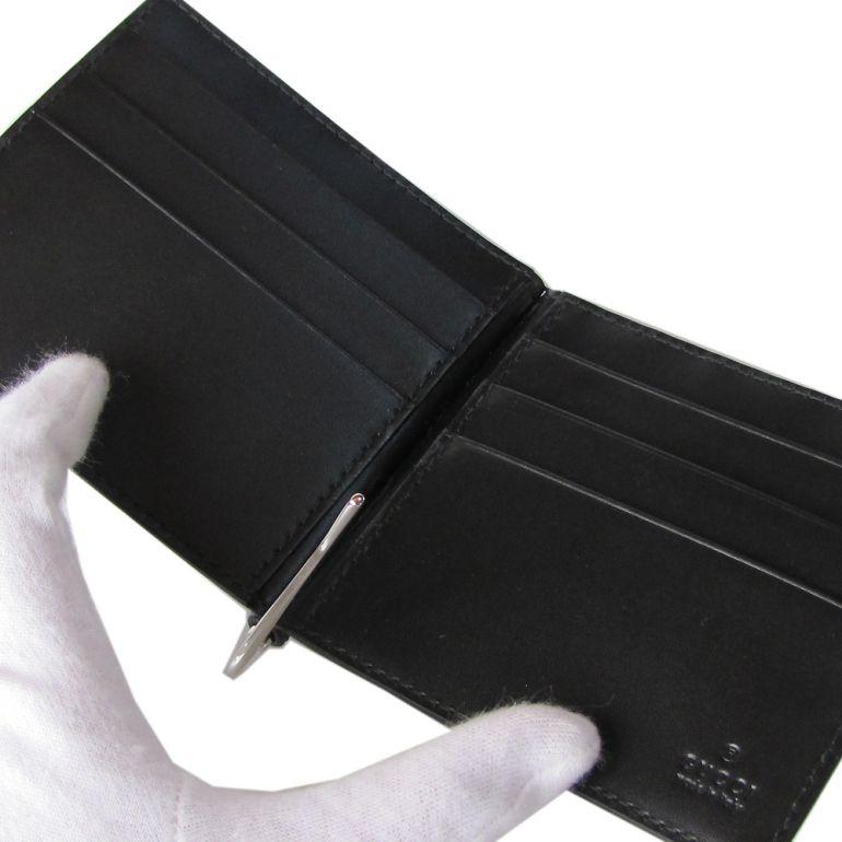21743b94ad6c 財布 札ばさみ マネークリップ メンズ GUCCI グッチ グッチシマ 1000 CWC1N 170580 ブラック  シグネチャーレザー-マネークリップ - llc.caece.net