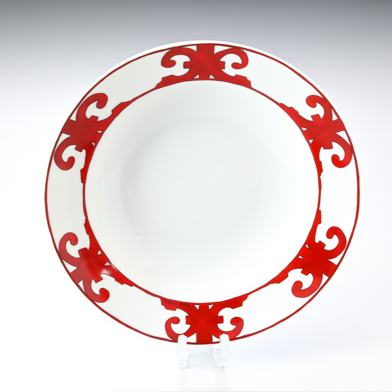エルメス HERMES ガダルキヴィール レッド 011026p 30cm ディーププレート 深皿 母の日