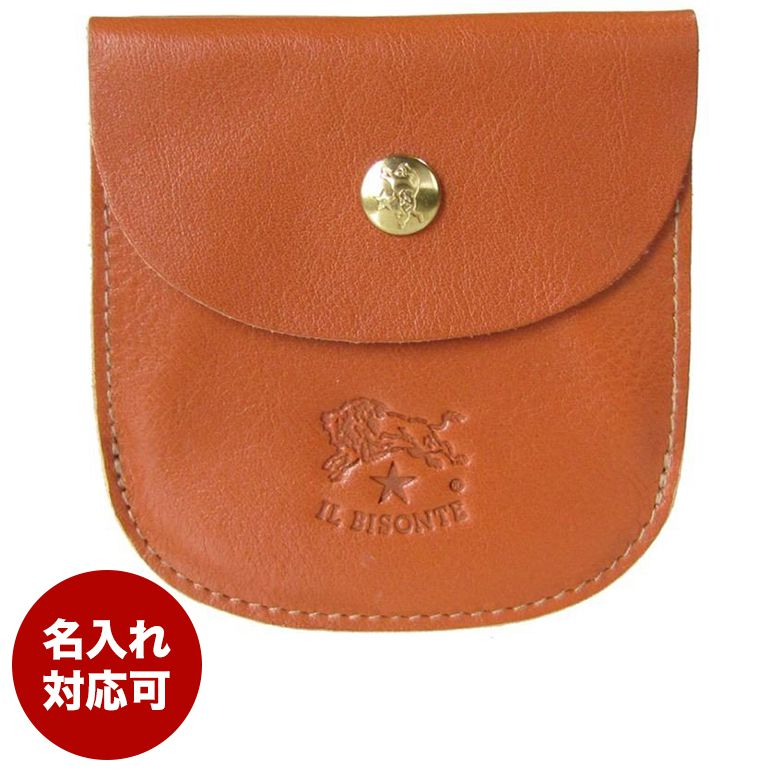 イルビゾンテ IL BISONTE 財布 二つ折り財布 カウハイドレザー キャラメル ヤキヌメ C0405 P 145