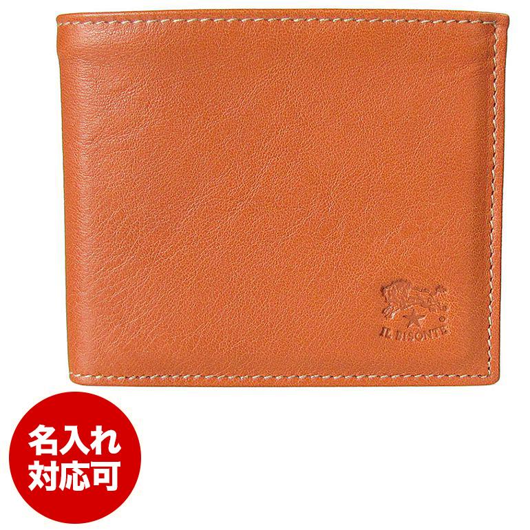 イルビゾンテ IL BISONTE 折財布 フラップ CARAMEL キャラメル ヤキヌメ C0817 P 145