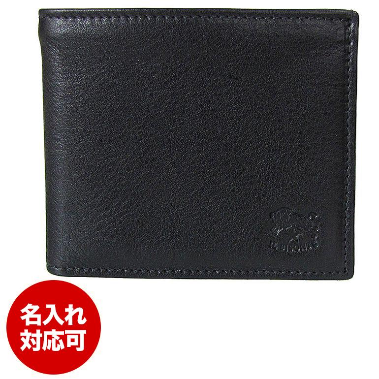 イルビゾンテ IL BISONTE 折財布 フラップ BLACK ブラック C0817 P 153