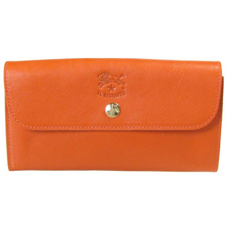 イルビゾンテ 長財布 メンズ レディース カウハイドレザー オレンジ C0842 P 166