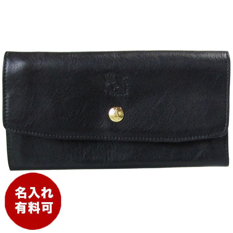 イルビゾンテ 長財布 メンズ レディース カウハイドレザー ブラック C1008 P 153 名入れ可有料