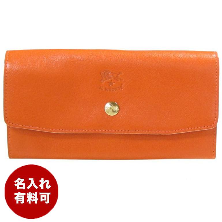 イルビゾンテ 長財布 メンズ レディース カウハイドレザー オレンジ C1008 P 166 名入れ可有料