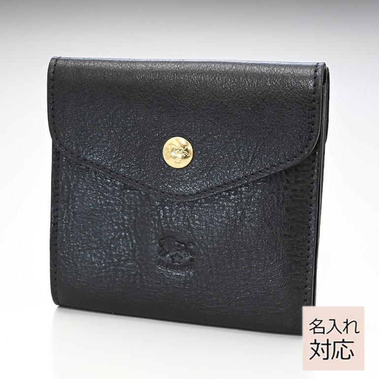 イルビゾンテ 財布 メンズ レディース 二つ折り財布 バケッタレザー ブラック ゴールド C0424 P 153