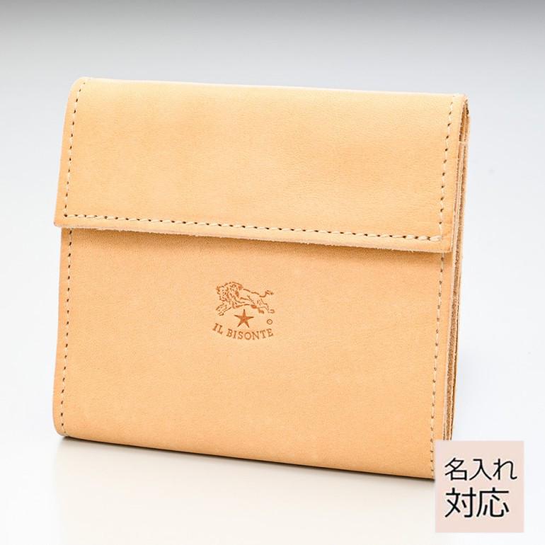イルビゾンテ 三つ折り財布 メンズ レディース カウハイドレザー ナチュラル ヌメ C0455 P 120