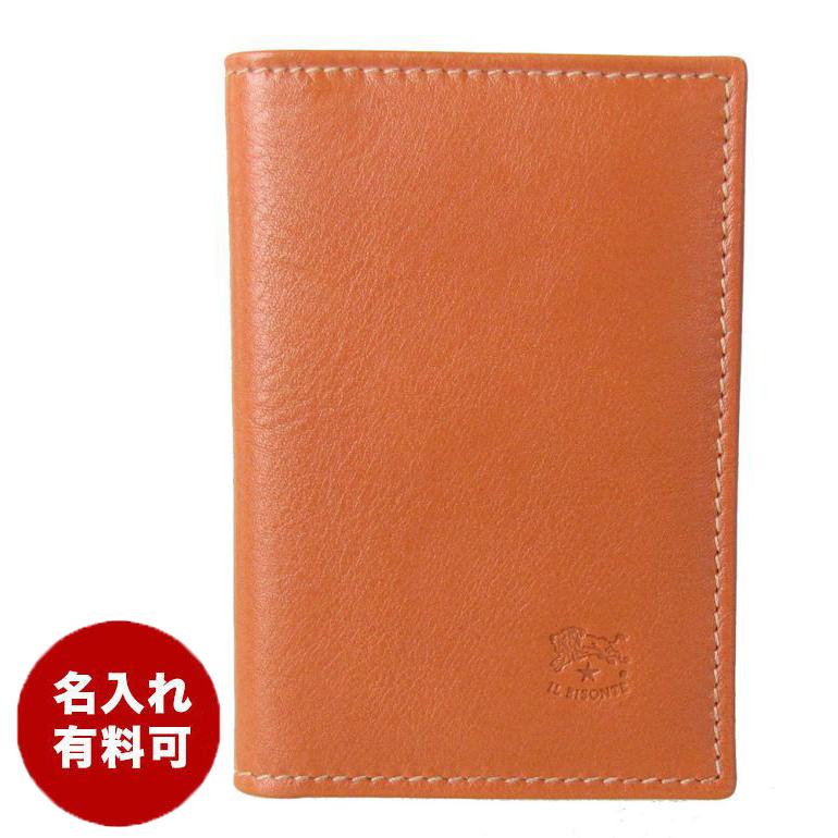 イルビゾンテ カードケース メンズ レディース 名刺入れ リバティプリント キャラメル ヤキヌメ C0980LL 901 名入れ可有料