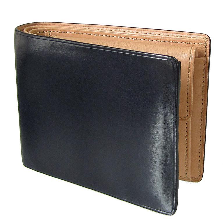 イルブセット IL BUSSETTO 財布 二つ折り財布 ネイビー×ナチュラル 7815172
