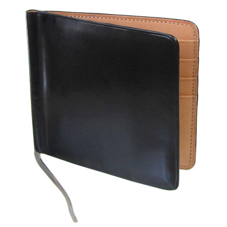 イルブセット マネークリップ メンズ 二つ折り財布 イル・ブセット ブラック×ナチュラル 7815188 父の日