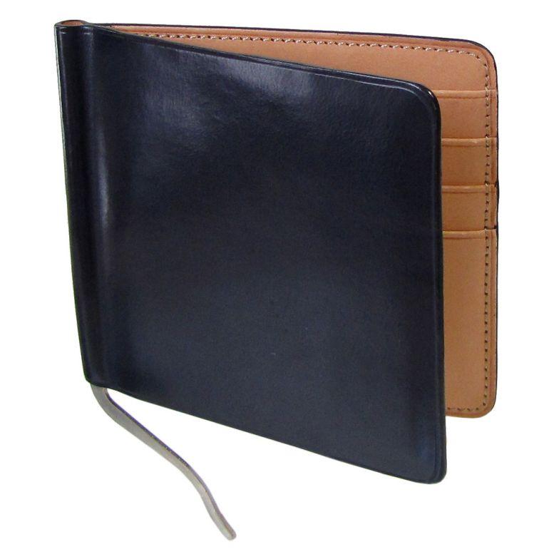 イルブセット マネークリップ メンズ 二つ折り財布 イル・ブセット ネイビー×ナチュラル 7815190