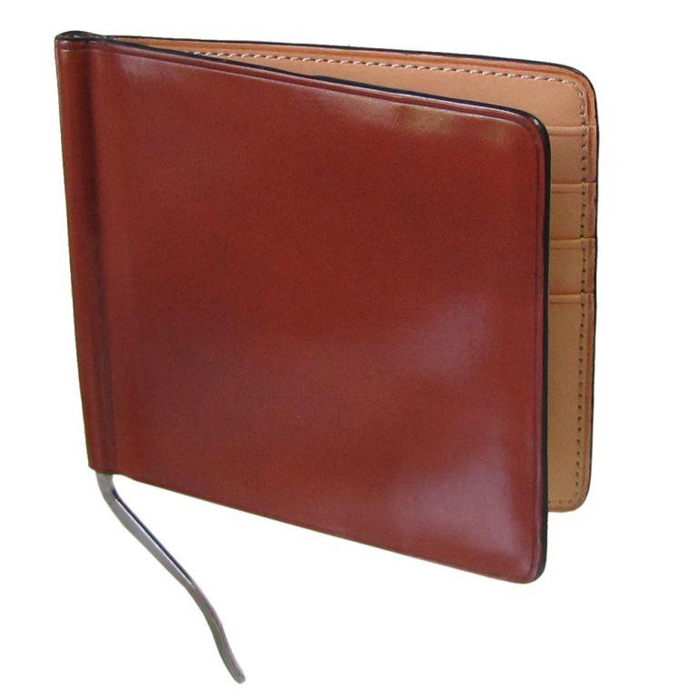 イルブセット マネークリップ メンズ 二つ折り財布 イル・ブセット ブラウン×ナチュラル 7815192