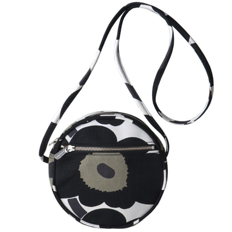 マリメッコ バッグ ショルダーバッグ Pieni Unikko Liia ホワイト×ブラック 48293 030