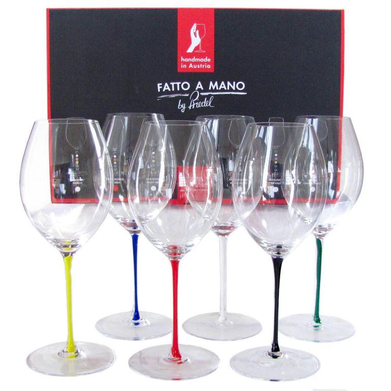 リーデル RIEDEL ワイングラス 6色セット ファット・ア・マーノ オールドワールド・シラー 600ml 7900/41