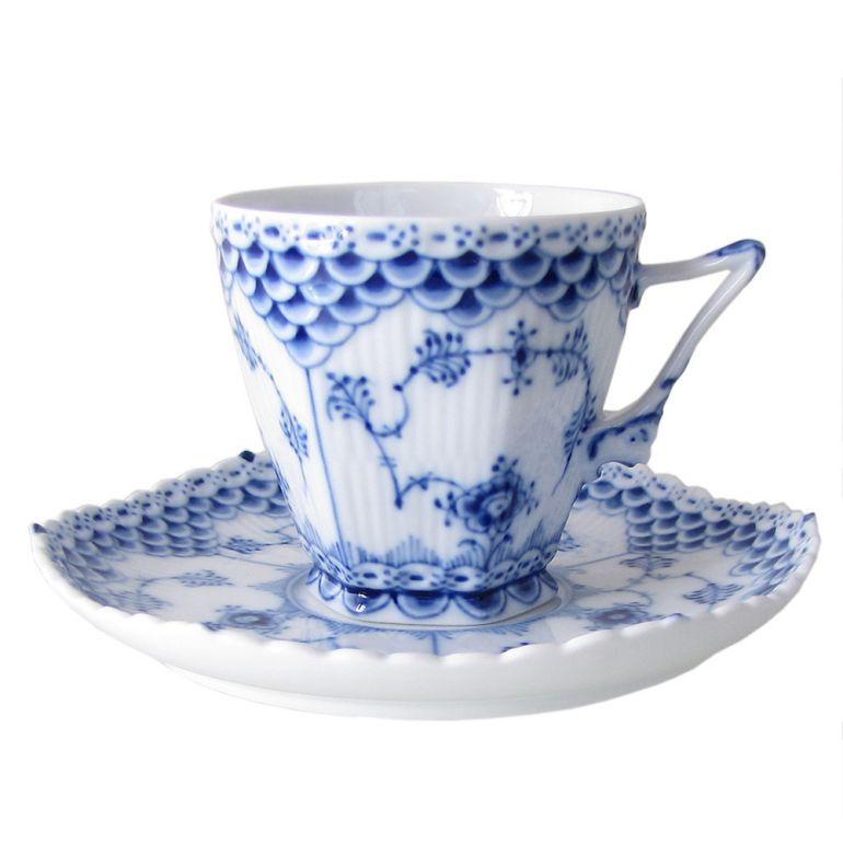 ロイヤルコペンハーゲン ブルーフルーテッド フルレース コーヒーカップ&ソーサー 140ml 1103068 母の日