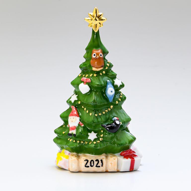 ROYAL COPENHAGEN クリスマスフィギュア 2021年 ロイヤルコペンハーゲン フィギュア アニュアルクリスマスツリー 日本未発売 物品 1252037 フィギュリン 2021年度限定 1057627 クリスマス 中古