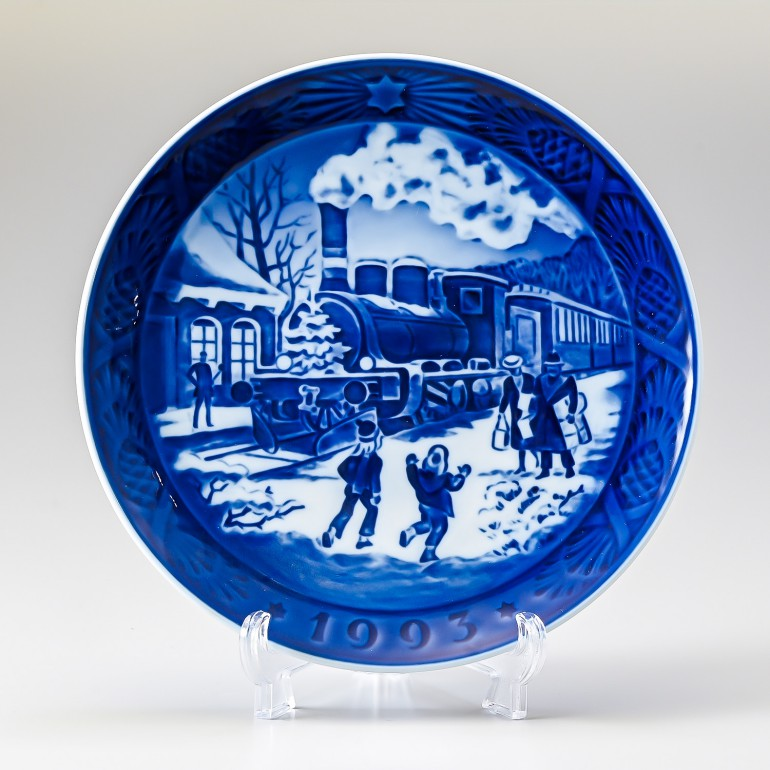 皿立て付き ロイヤルコペンハーゲン イヤープレート クリスマスプレート 1993年 平成5年 1901093