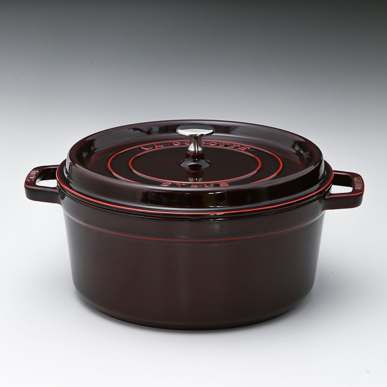 ストウブ ピコ ココット ラウンド 鋳物 ホーロー 鍋 なべ 調理器具 キッチン用品 グレナディンレッド 26cm 5.2L 1102687