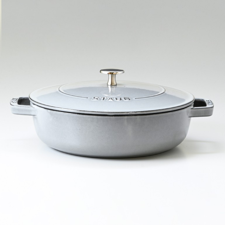 ストウブ ブレイザー 24cm ソテーパン 鋳物 ホーロー 鍋 なべ 調理器具 キッチン用品 グレー 2.4L 12612891