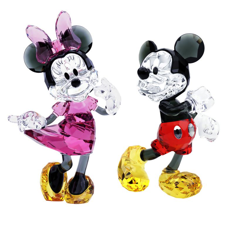 スワロフスキー SWAROVSKI クリスタルフィギュア セット ミッキーマウス ミニーマウス ペア Disney ディズニー 5135887 5135891