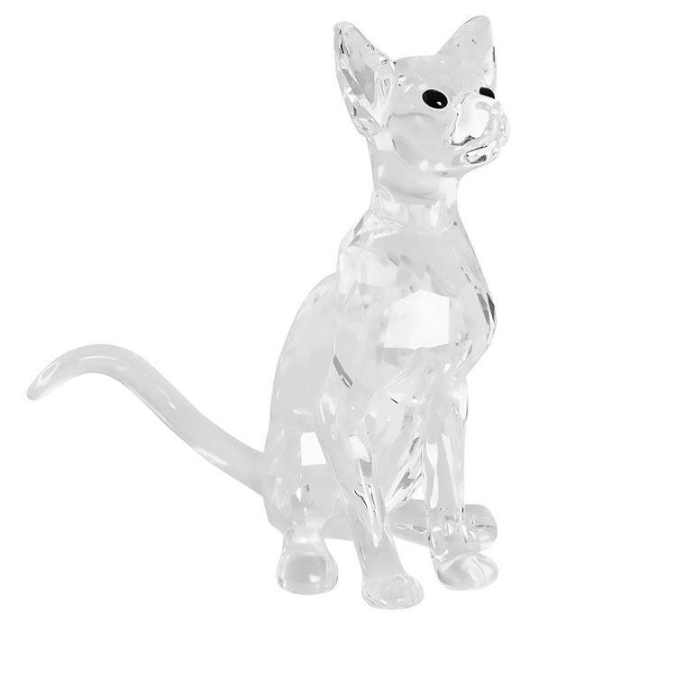スワロフスキー SWAROVSKI クリスタルフィギュア シャム猫 ネコ フィギュリン 置物 5135918