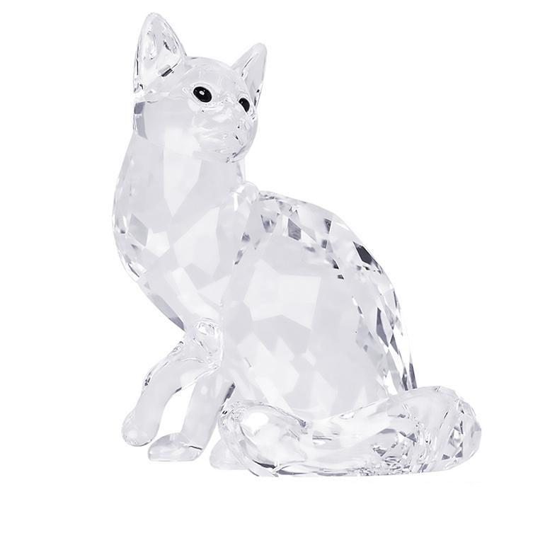 スワロフスキー SWAROVSKI クリスタルフィギュア オブジェ メインクーン MAINE COON CAT 猫 ネコ インテリア フィギュリン 置物 5135919